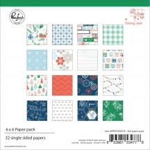 "Pinkfresh Holiday Vibes 6""x6"" Christmas Paper Pack PFRC600218"