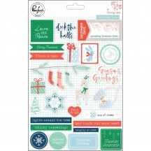 Pinkfresh Studio Holiday Vibes Puffy Christmas Stickers PFRC600318