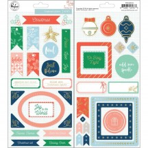 Pinkfresh Studio Holiday Vibes Chipboard Christmas Stickers PFRC600518