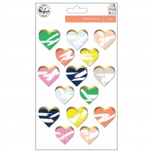 Pinkfresh Studio The Mix No.2 Die-Cut Stitched Hearts PFRC600917