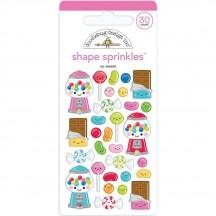 Doodlebug So Much Pun So Sweet Shape Sprinkles Enamel Shapes 6036
