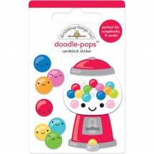 Doodlebug So Much Pun Gum-Believable Doodle-Pops Dimensional Sticker 6044