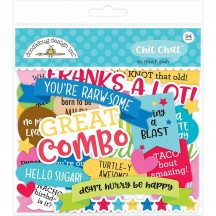 Doodlebug So Much Pun Chit Chat Die-Cut Cardstock Ephemera 6056
