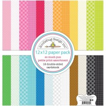 "Doodlebug So Much Pun Petite Print Assortment 12""x12"" Paper Pack 6069"