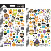 Doodlebug Pumpkin Party Mini Icons Halloween Cardstock Stickers 6168