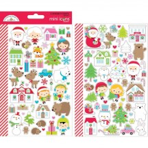 Doodlebug Christmas Town Mini Icons Cardstock Stickers 6169
