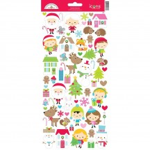 """Doodlebug Christmas Town 6""""x12"""" Icons Cardstock Stickers 6173"""