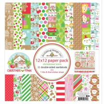 "Doodlebug Christmas Town 12""x12"" Paper Pack 6179"