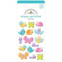 Doodlebug Simply Spring Little Critters Sprinkles Enamel Shapes 6226