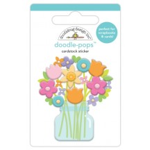 Doodlebug Simply Spring Bright Bunch Doodle-Pops Dimensional Sticker 6238