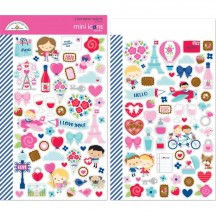 Doodlebug French Kiss Mini Icons Cardstock Stickers 6253