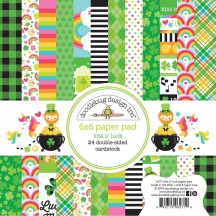 "Doodlebug Lots O' Luck 6""x6"" Paper Pad 24 Sheets 6271"