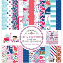 """Doodlebug French Kiss 12""""x12"""" Paper Pack 6276"""