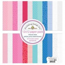 "Doodlebug French Kiss Petite Print Assortment 12""x12"" Paper Pack 6280"