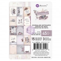 "Prima Marketing Lavender 3""x4"" Journaling Note Card Pad 630126"