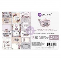 "Prima Marketing Lavender 4""x6"" Journaling Note Card Pad 630133"