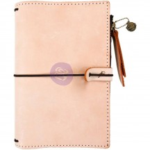 Prima Traveler's Journal Leather Essential Personal Size - Peach 630348