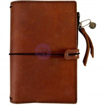 Prima Traveler's Journal Leather Essential Personal Size - Rust Brown 630409