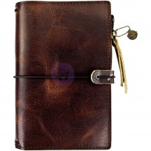 Prima Traveler's Journal Leather Essential Personal Size - Mocha Brown 630416