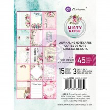 """Prima Misty Rose 3""""x4"""" Journaling Note Card Pad 630980"""