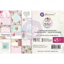 """Prima Misty Rose 4""""x6"""" Journaling Note Card Pad 630997"""