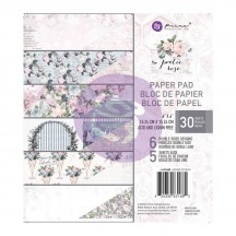 "Prima Poetic Rose 6""x6"" Double-Sided Paper Pad 30 sheets 631680"