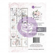 "Prima Poetic Rose 3""x4"" Journaling Note Card Pad 631703"