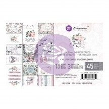 "Prima Poetic Rose 4""x6"" Journaling Note Card Pad 631710"