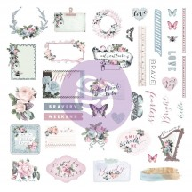 Prima Poetic Rose Ephemera & Stickers 631734