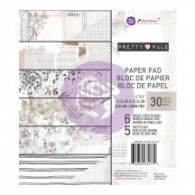 "Prima Pretty Pale 6""x6"" Double-Sided Paper Pad 30 sheets 631772"