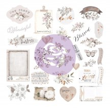 Prima Pretty Pale Die-Cut Cardstock Ephemera & Acetate 631819