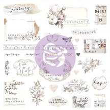 Prima Pretty Pale Ephemera & Stickers 631826