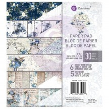 "Prima Georgia Blues 6""x6"" Double-Sided Paper Pad 30 sheets 634148"