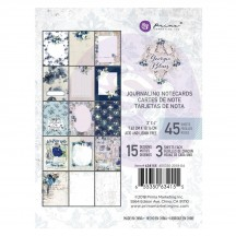 "Prima Georgia Blues 3""x4"" Journaling Note Card Pad 634155"