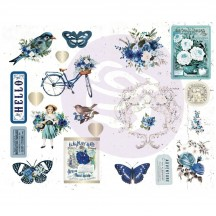 Prima Georgia Blues Self Adhesive Chipboard Accent Shape Stickers 634179