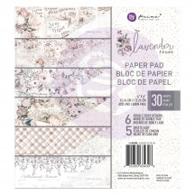 "Prima Lavender Frost 6""x6"" Double-Sided Paper Pad 30 sheets 634308"