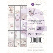 "Prima Lavender Frost 3""x4"" Journaling Note Card Pad 634315"