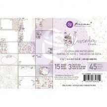 "Prima Lavender Frost 4""x6"" Journaling Note Card Pad 634322"