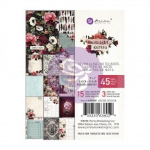 "Prima Midnight Garden 3""x4"" Journaling Note Card Pad 636029"
