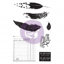 Prima Midnight Garden Cling Rubber Stamps And Stencil Set 636074