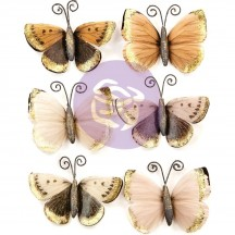 Prima Pretty Pale Mystical Flight Butterfly Embellishments 637552