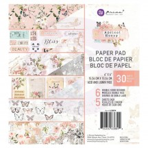 "Prima Apricot Honey 6""x6"" Double-Sided Paper Pad 30 sheets 638894"