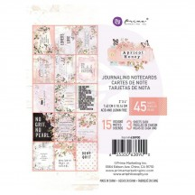 """Prima Apricot Honey 3""""x4"""" Journaling Note Card Pad 638900"""
