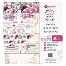 "Prima Pretty Mosaic 12""x12"" Double-Sided Paper Pad 24 sheets 642167"