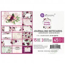 "Prima Pretty Mosaic 4""x6"" Journaling Note Card Pad 642204"