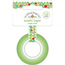 Doodlebug Christmas Magic Holly Bough Decorative Washi Tape 6433