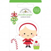 Doodlebug Christmas Magic Mrs Claus Doodle-Pops Dimensional Sticker 6455