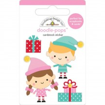 Doodlebug Christmas Magic Santa's Helpers Doodle-Pops Dimensional Sticker 6457