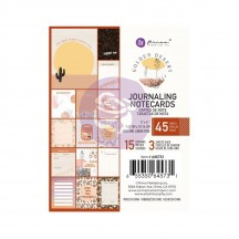 "Prima Golden Desert 3""x4"" Journaling Note Card Pad 645731"