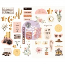 Prima Golden Desert Self Adhesive Chipboard Accent Shape Stickers 645755